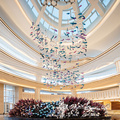 Lobby dangling customized glass chandelier pendant light
