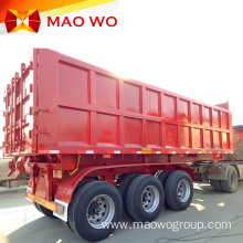 Cylinder Hydraulic 3 Axles Rear Tipper Trailers