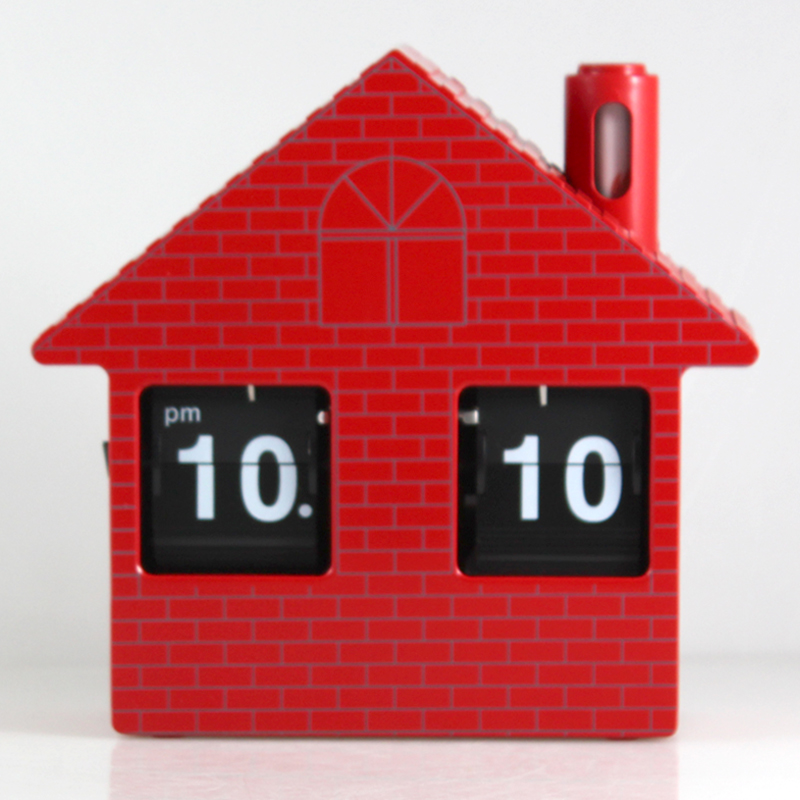 Small House Flip Clock Desk Clock