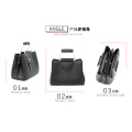 Vegan Leather Tote Crossbody Bag Black Leather