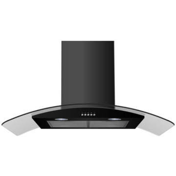 90cm Curved Push Button Chimney Cooker Hood