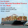 Shantou Sea freight shipping container to Abu Dhabi