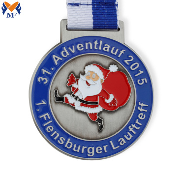 Wholesale metal santa claus medal
