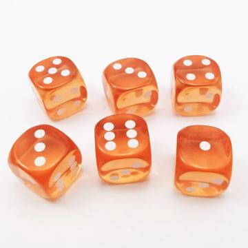 14.5MM Printing Precision Dice Translucent Orange 0.57inch