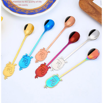 creative  cartoon duck  mixing  spoon