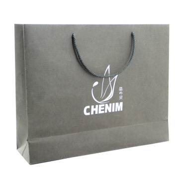 Silver Stamp Lamination Paper Gift Bag