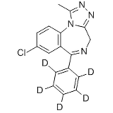 4H- [1,2,4] Triazolo [4,3-a] [1,4] benzodiazepin, 8-Chlor-1-methyl-6- (phenyl-d5) - (9CI) CAS 125229-61-0
