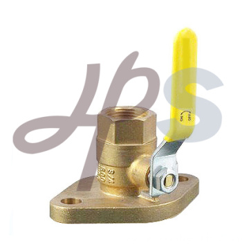 Brass rotating flanged ball valve