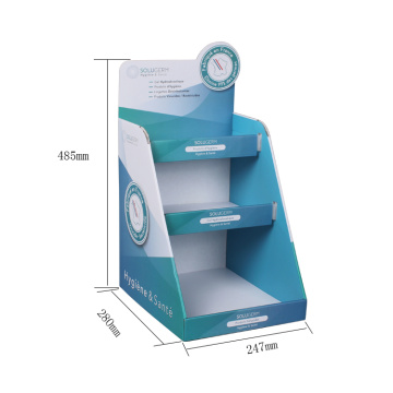APEX Wholesale Light Blue Standing Paper Display