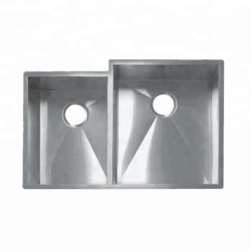 double kitchen sink square 304stainless steel handmade sink