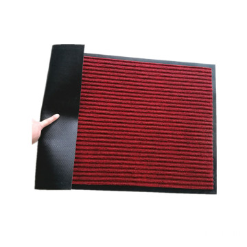 Ribbed outdoor hotel door entrance pile carpet