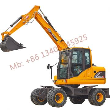 2021 hot sale 6ton wheel excavator XN75B