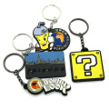 colorful 360 rubber silicone custom keychain