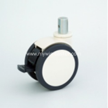 4 Inch Solid Stem Swivel PU Material With Bracket Medical Caster