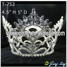Wholesale 4.5 Inch Rhinestone Full Round Pageant Crown