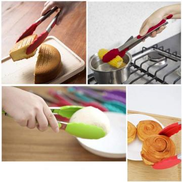Stainless Steel Food Tongs With Silicone Head