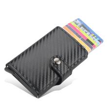 New 2020 Credit Card Holder Wallet Men Women Metal RFID Vintage Aluminium Bag Crazy Horse PU Leather Bank Cardholder Case