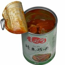 Canned Mackerel Fish in Dark Red Tomato Sauce
