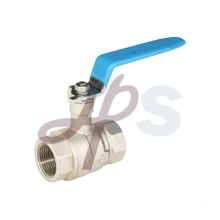 Brass ball valve plated nickel
