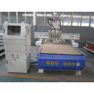 Auto multi head woodworking atc cnc router