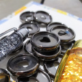 30PCS New 23MM Binding Disc Buckle Notebook Mushroom Hole Binder Heart-shaped Plastic Disc Binding Book Binding Supplies