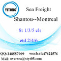 Shantou Port LCL Consolidation To Montreal