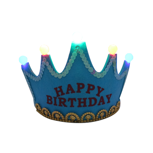 Non-woven Glowing King Princess Crown LED Party Hat