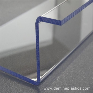 Customized bending of polycarbonate sheet