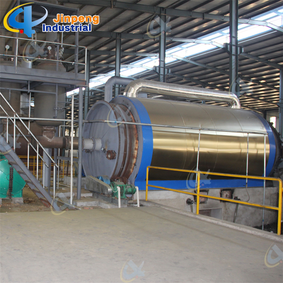 Recycling to oil from waste rubber Plant