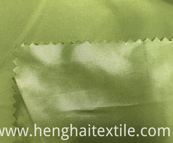 Green terylene fabric