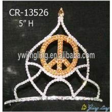Wholesale Rhinestone Peace Sign Crowns