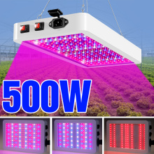 LED Grow Light 500W Phyto Lamp Full Spectrum Plant Growing Lighting For Hydroponics Seedling Plants Waterproof LED Growth Lamps