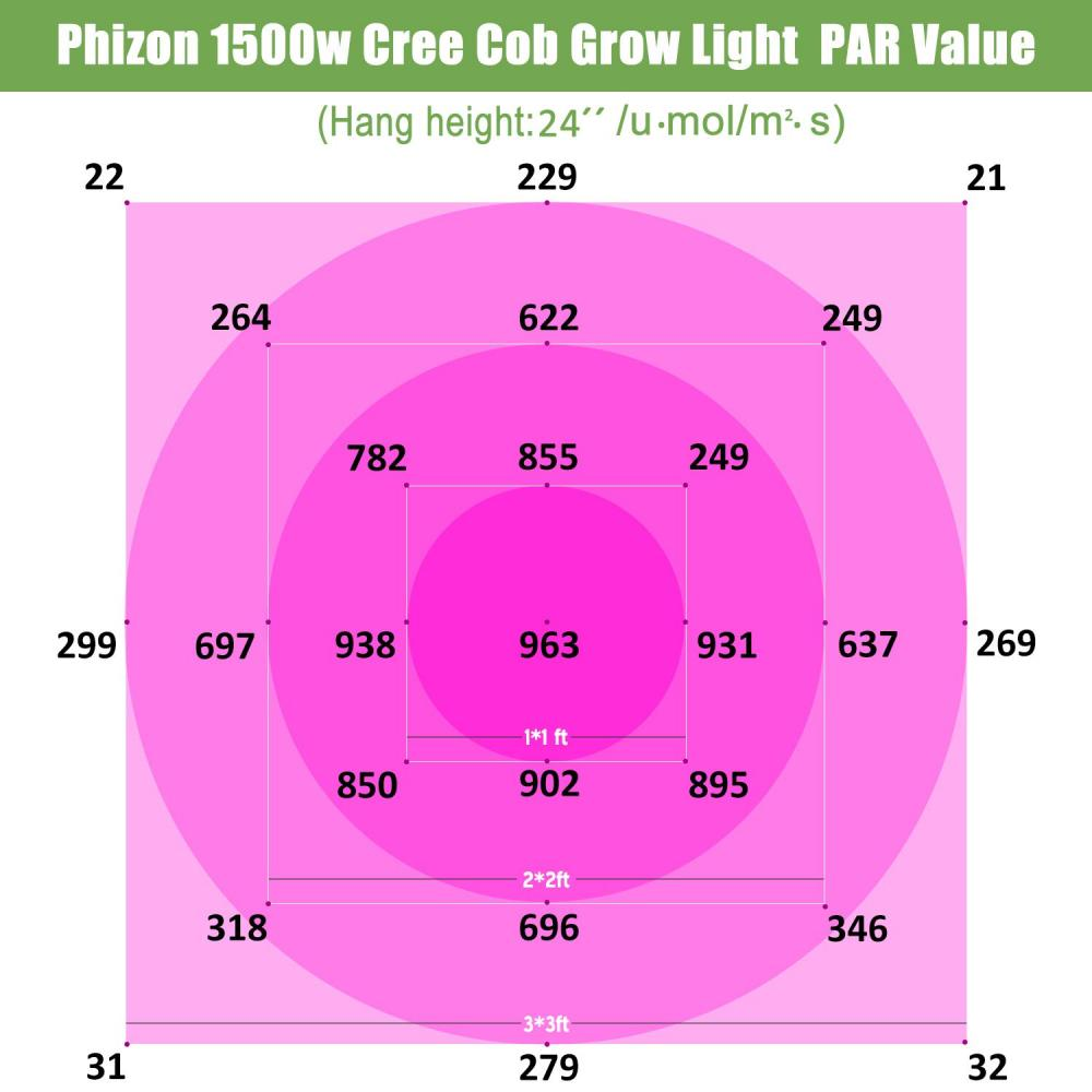 Phlizon 1500w Cob Light