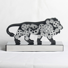 Active Cute Lion Clock with Moving Gears