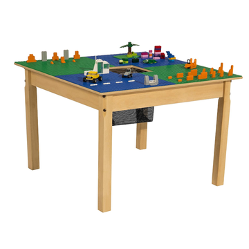 GIBBON legos wooden table, Building Block Table, Craft Table and Sensory Table with Storage legos wooden table