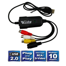New USB 2.0 Easycap Audio Video Capture Card Adapter VHS to DVD Video Capture for Windows 10/8/7/XP Capture Video