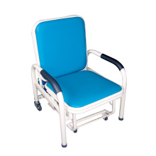 Hospital PVC Blue Attendant Chair