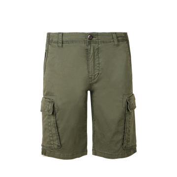 Men's Patch Pocket Knee Length Woven Shorts