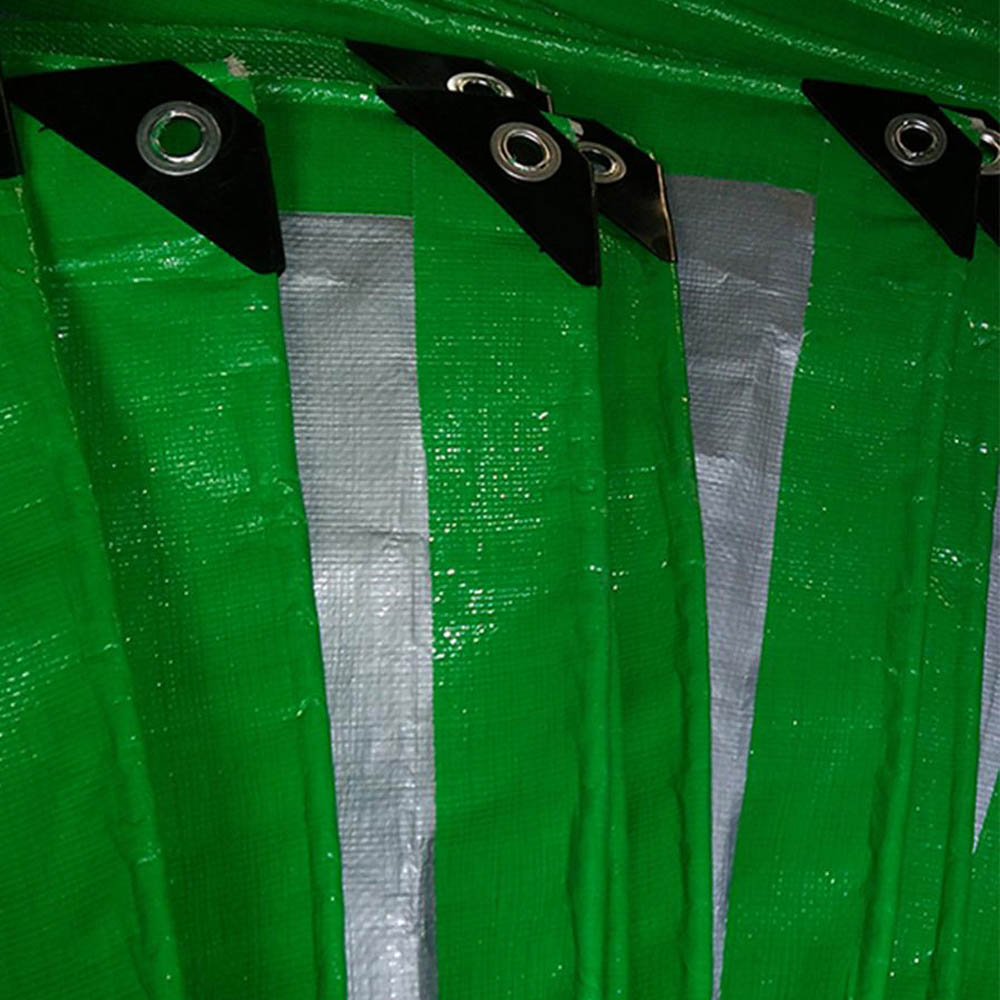 130gsm Green Silver Tarpaulin Sheet Roll