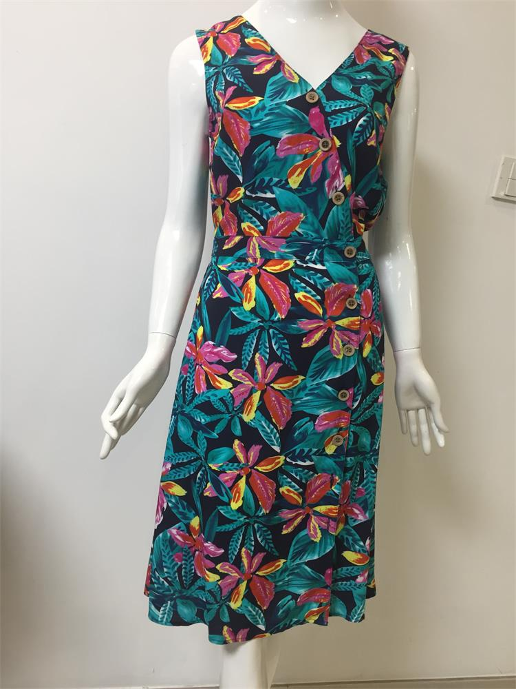 New Fashion Printed Long Dress