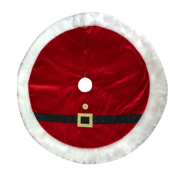 tree skirt christmas traditional red
