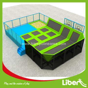 Safe kids trampoline with inflatable bounce