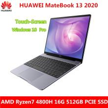 New Touch-Screen version HUAWEI MateBook 13 2020 13 inch laptop Ryzen7 4800H 16G 512GB PCIE SSD FHD IPS ultrabook