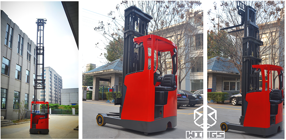 seat-on Electric Reach Truck WINGS MAHCINERY