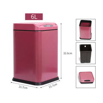 6L  Bathroom Rectangular Sensor Automatic Dustbin