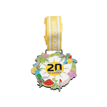 Custom kid race summer enamel medal