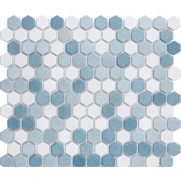 glass mosaic tile in pool