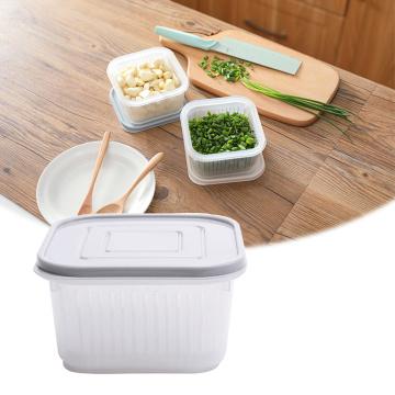 Refrigerator Storage Drain Box Plastic Transparent Food Keeping Fresh Container Fridge Fruit Garlic Scallion Kitchen Organizer