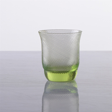 Wholesale Hand Made Green Water Glass Set of 9