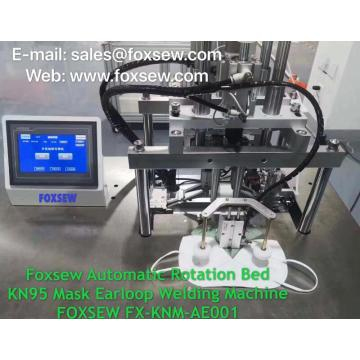 Semi-Automatic Rotation KN95 Mask Earloop Welding Machine